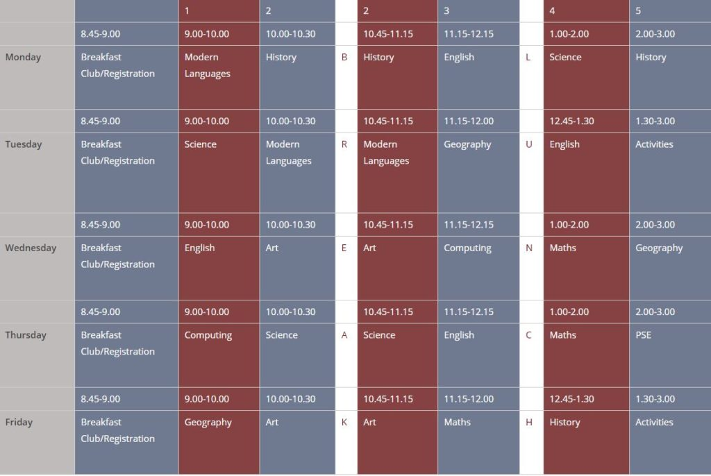 sample-timetable